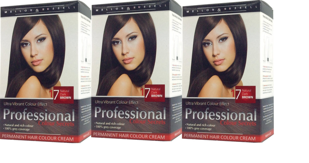 Mellor & Russell Professional Colour Secrets Ultra Vibrant Colour Pack Of 3