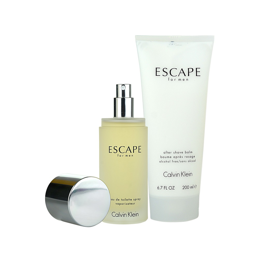 Calvin Klein Escape For Men 2 Piece Set 100ml EDT + Aftershave Balm 200ml