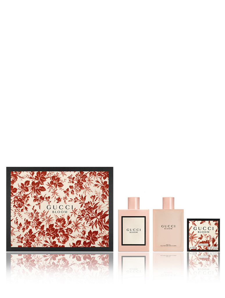 Gucci Bloom Gift Set 100ml EDP + 100ml Body Oil + 100g Perfumed Soap
