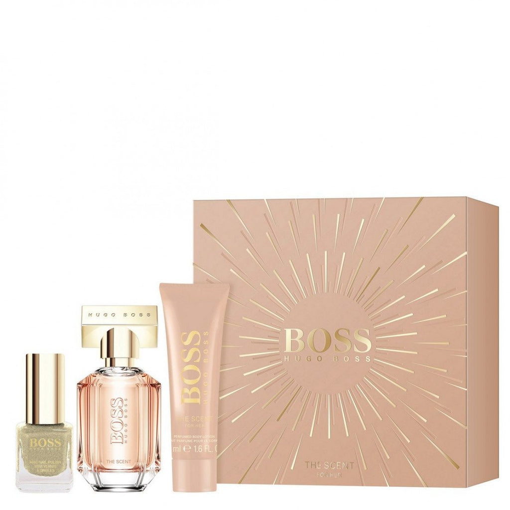 Hugo Boss The Scent For Her Gift Set 30ml EDP + Body Lotion 50ml + Nail Polish 4.5ml