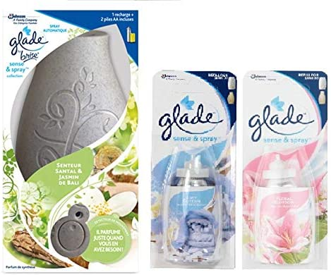 Glade Sense & Spray Collection Automatic Spray Bali Sandalwood & Jasmine 18ml + 2 Refills