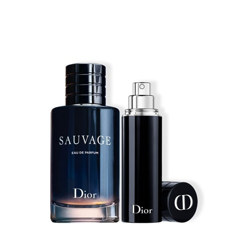 Dior Sauvage Gift Set 100ml EDP + 10ml EDP Refillable Travel Spray
