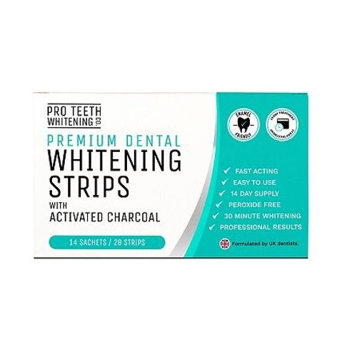 Pro Teeth Whitening Co. Whitening Strips with Activated Charcoal