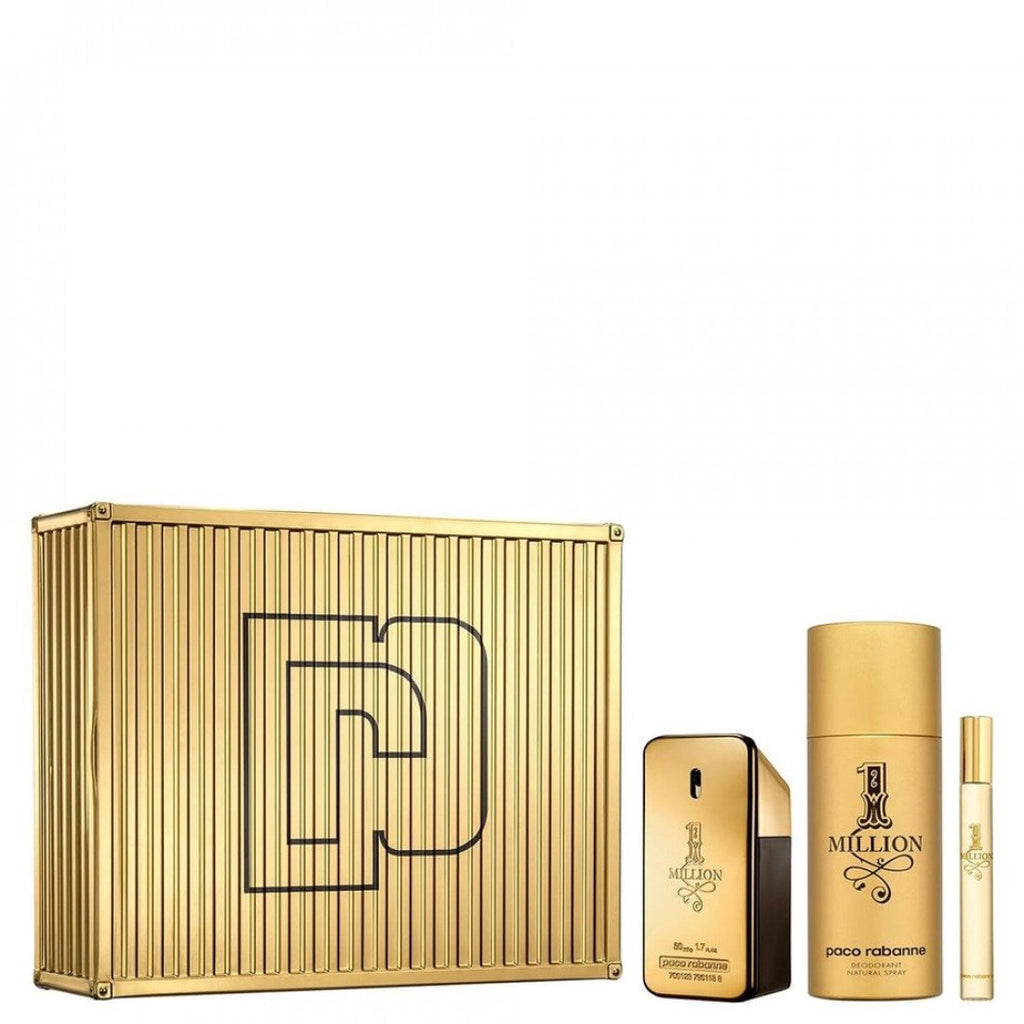 Paco Rabanne 1 Million Gift Set EDT 50ml + Deodorant Spray 150ml + EDT Travel Spray 10ml