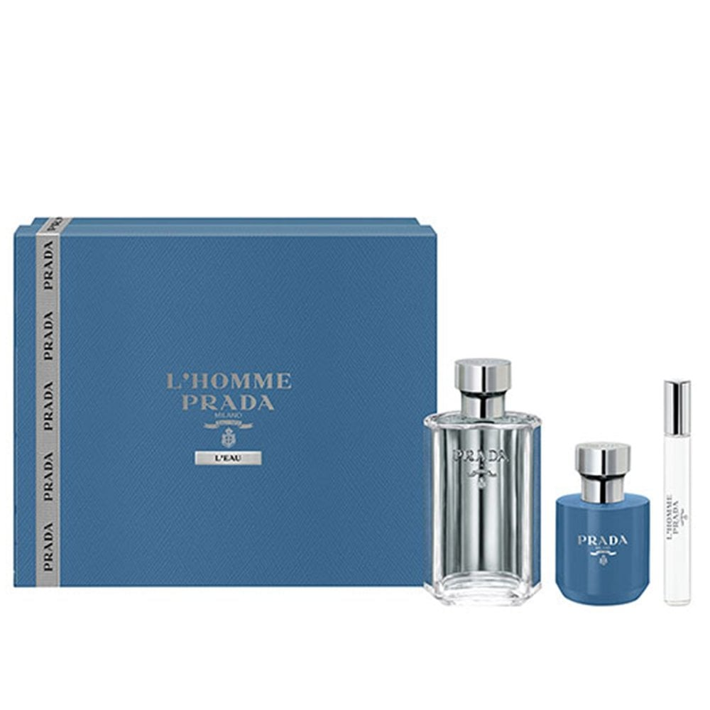 Prada L'homme L'eau Gift Set 100ml EDT + 10ml EDT + Shower Cream 100ml