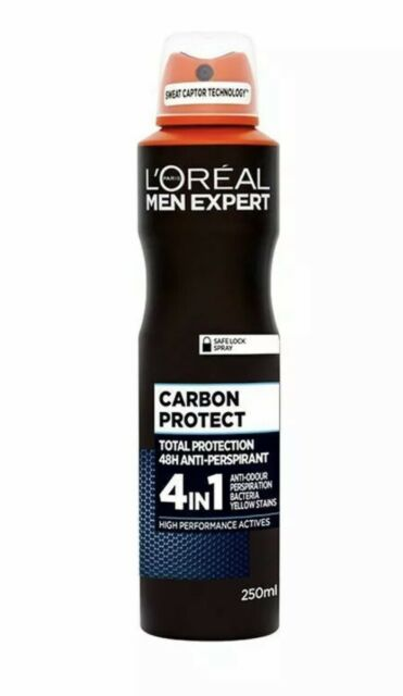 L'Oreal Men Expert Carbon Protect Total Protection 48H Anti-Perspirant Deodorant 4-in-1 250ml