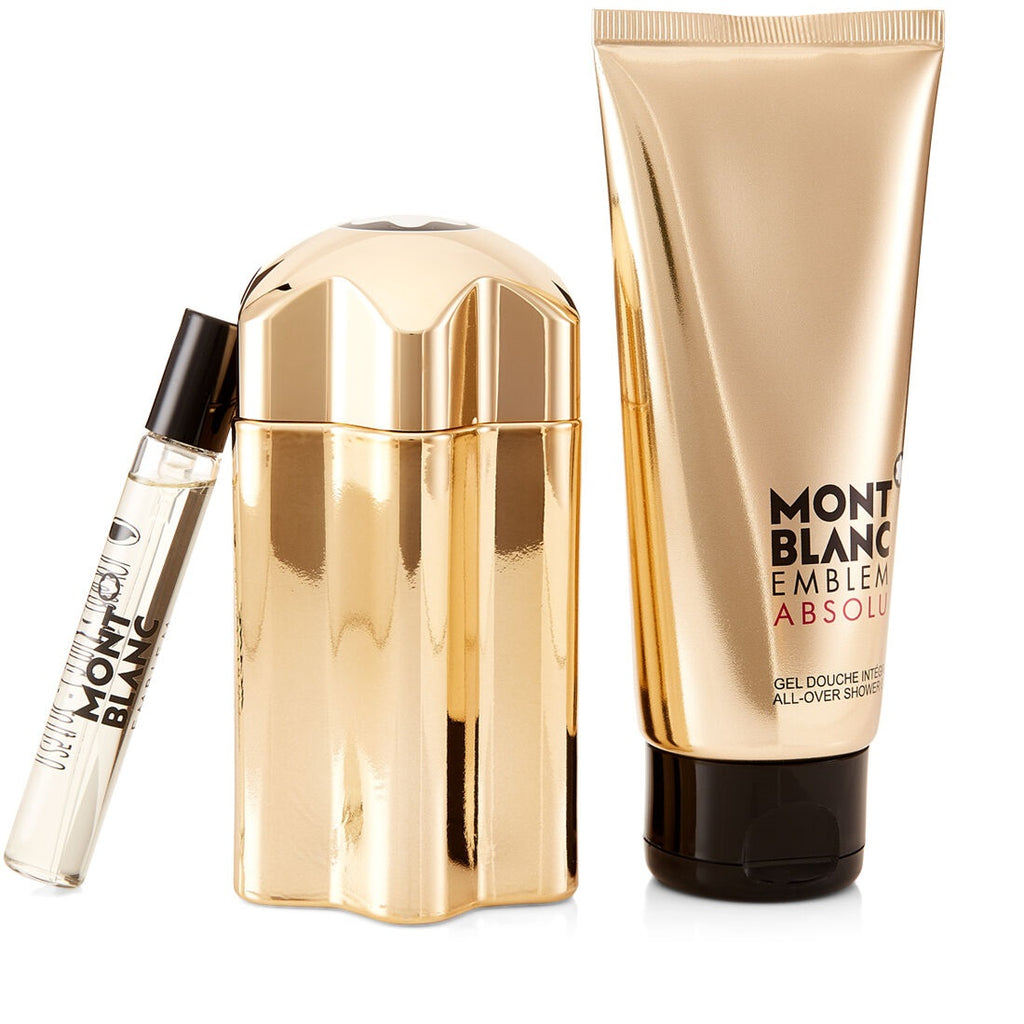 Montblanc Emblem Absolu 3 Pieces Gift Set 100ml EDT + 100ml Shower Gel + 7.5ml EDT