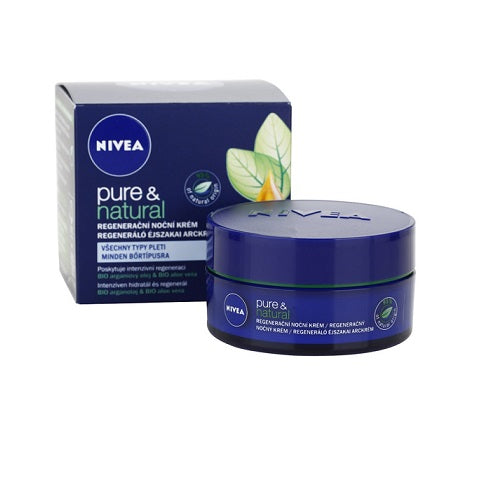 Nivea Visage Pure & Natural Night Cream 50ml - Look Incredible