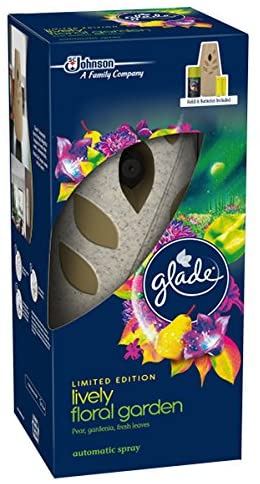 Glade Automatic Spray Holder + Lively Floral Garden Refill 269ml & Batteries