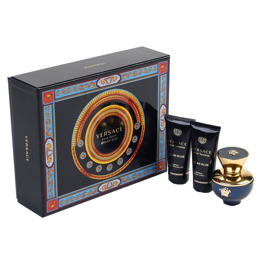 Versace Dylan Blue Pour Femme 50ml EDP + 50ml Body Lotion + 50ml Shower Gel