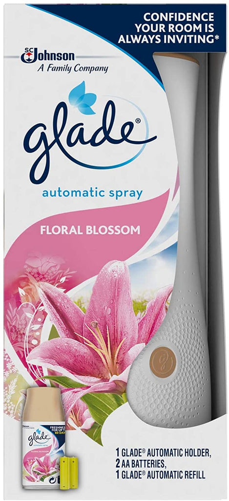 Glade Automatic Spray Holder + Floral Blossom Refill 269ml & Batteries