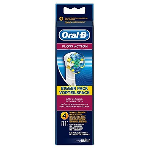 Oral-B Floss Action Replacement Toothbrush Heads (4 Refills)