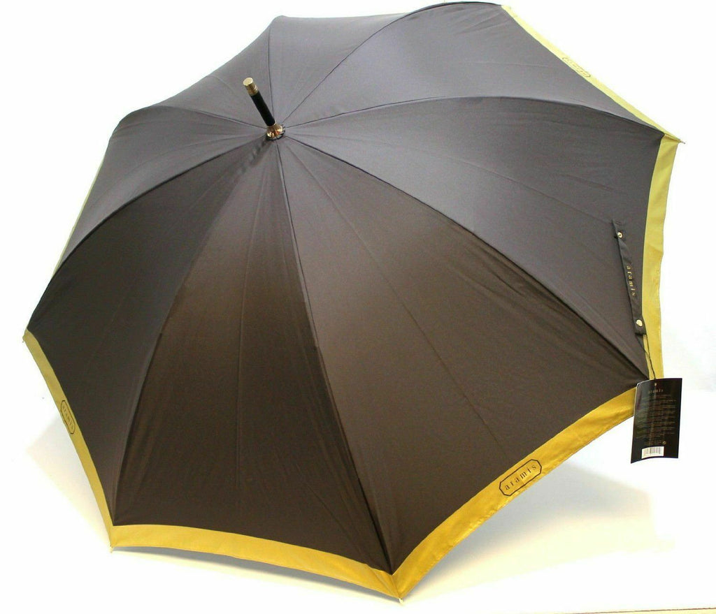 Aramis Classic Brown With Gold Trim Umbrella