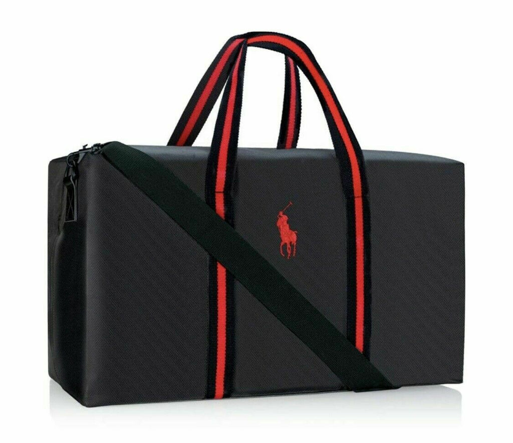 Ralph Lauren Polo Black Weekender Holdall Sport Duffle Travel Bag