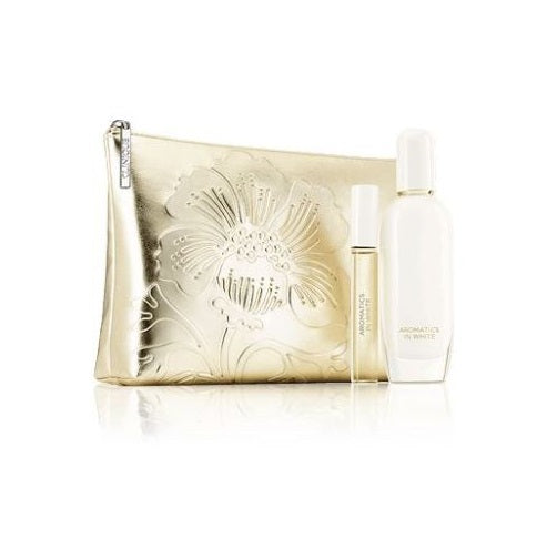 Clinique Aromatics in White Gift Set 50ml EDP Spray + 10ml Perfume Rollerball - Look Incredible