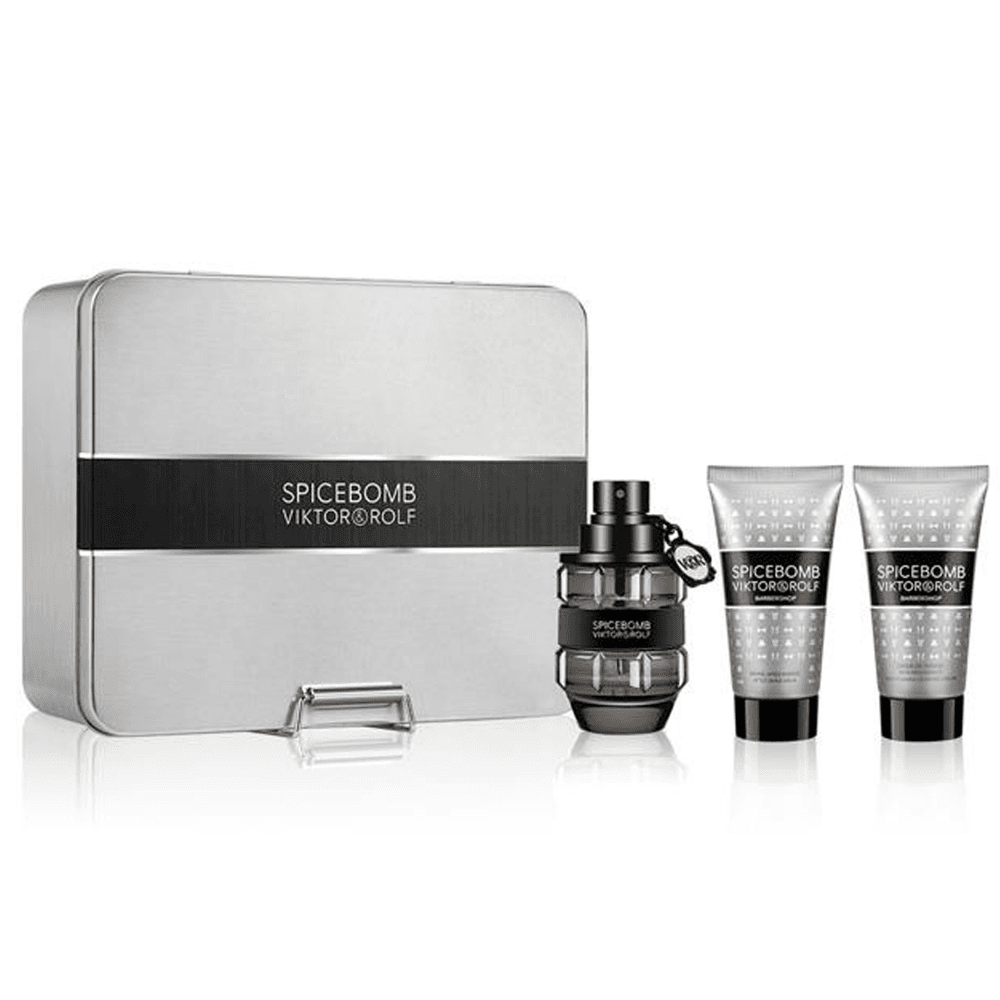 Viktor & Rolf Spicebomb Gift Set 50ml EDT + 50ml Non-Foaming Shaving Cream + 50ml Aftershave Balm