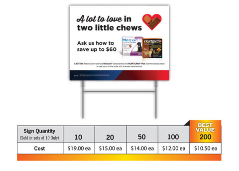 $60 Rebate Signs (1 Sided)