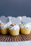 Laser Cut Cupcake Topper - Heart (large)