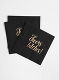 Rose Gold Foil and Black Napkin Set - Cheers Bitches!