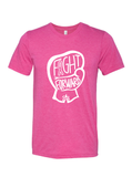 CHARITY White and Pink T-shirt - FIGHT FORWARD