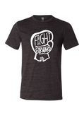 CHARITY White and Charcoal T-shirt - FIGHT FORWARD
