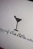 Funny Holiday Cards // Cocktails - LETTERPRESS