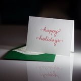 Trendy Holiday Cards // Red Happy Holidays - LETTERPRESS