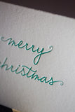Trendy Holiday Cards // Green Merry Christmas - LETTERPRESS