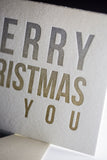 Trendy Holiday Cards // Christmas Ombre - LETTERPRESS