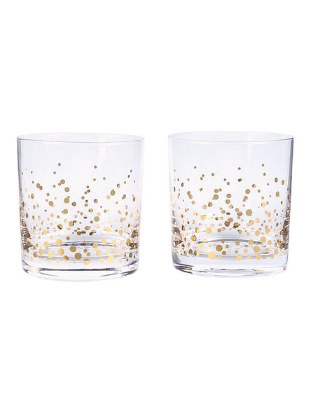 Gold Confetti Cocktail Glasses
