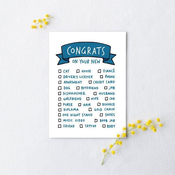 Pick Your Own Congratulations Card