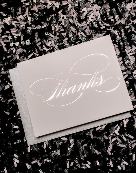Silver Foil Thank You Cards