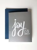 Trendy Holiday Cards // Joy to You and the World