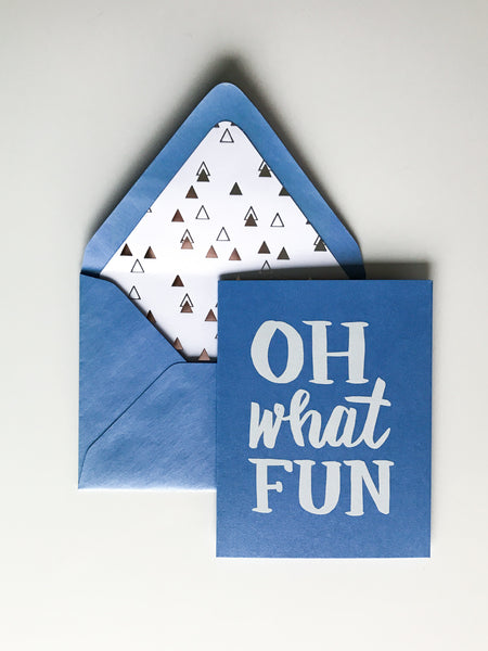 Trendy Holiday Cards // Oh What Fun