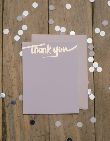 Blush and Rose Gold Foil Thank You Cards