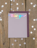 Rainbow Foil Thank You Cards