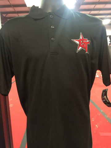 "Ultra Club GymTyme black polo (4"" logo)"