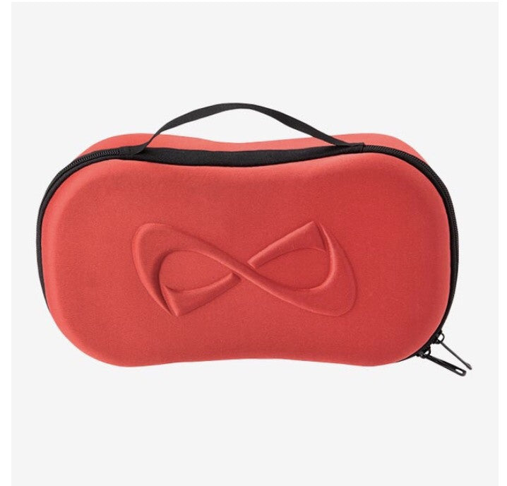 Nfinity red mirrored makeup bag