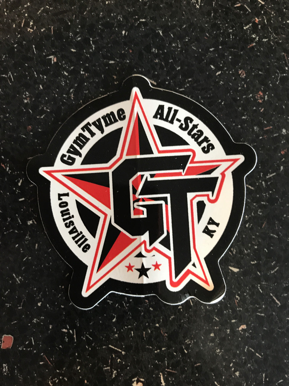 "GymTyme car decal and 2"" stickers"