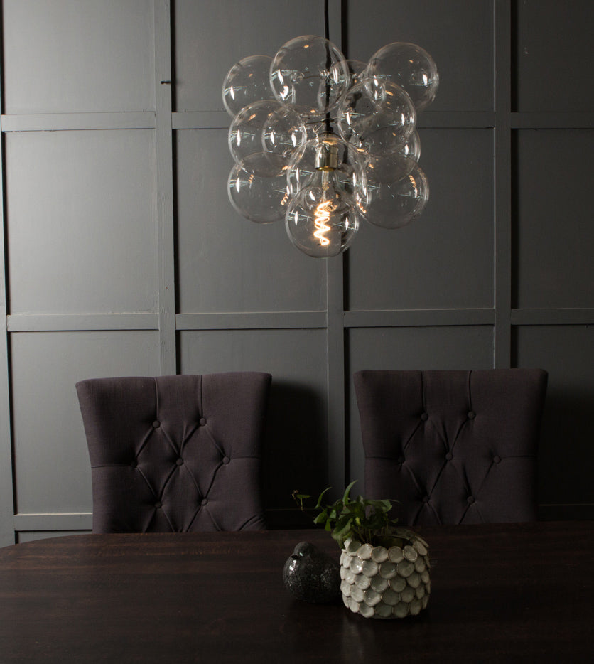 The 12 bulb Bubble Chandelier Light by Dowsing and Reynolds