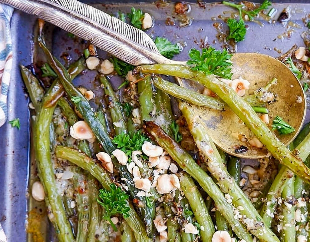 Runner beans with parmesan