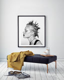 """Punk Girl"" Framed, 58x71 cm - Fawn. Interior Design Studio."