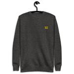 Unisex Embroidered Fleece Pullover (Yellow Logo)