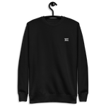 Unisex Embroidered Fleece Pullover (White Logo)