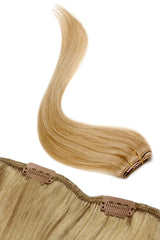 American Pride Single Weft Clip In Hair 6 Clips Human Hair Extensions 18""