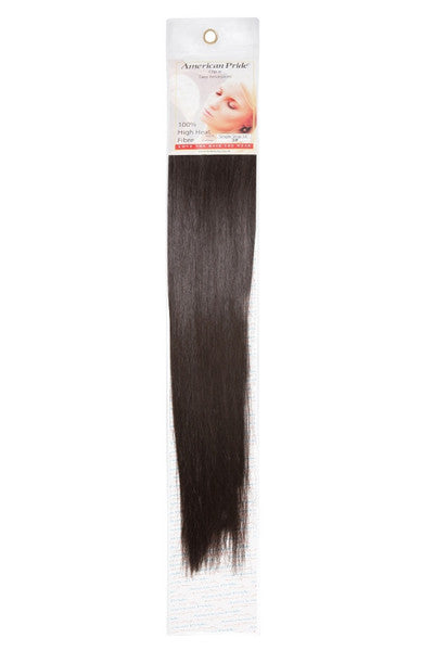 "American Pride Synthetic Single Weft Clip in Hair 6 Clips Hair Extensions 18"" Darkish Brown (3) - Beauty Hair Direct"