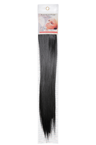 "American Pride Synthetic Single Weft Clip in Hair 6 Clips Hair Extensions 18"" Jet Black (1) - Beauty Hair Direct"