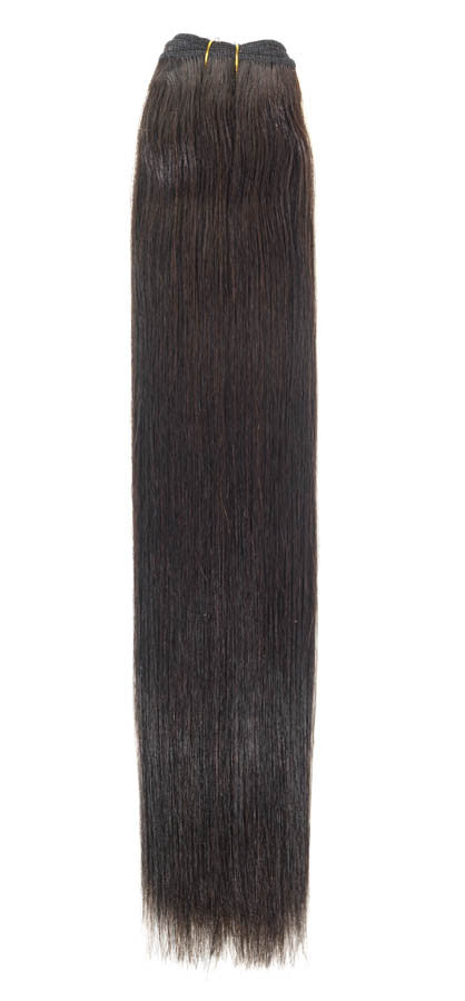 "American Pride Euro Weave Human Hair Extensions 18"" Barely Black (1b) - Beauty Hair Direct"