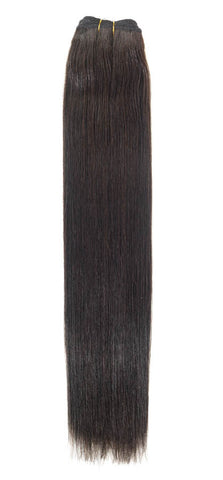 "American Pride Euro Weave Human Hair Extensions 22"" Barely Black (1b) - Beauty Hair Direct"
