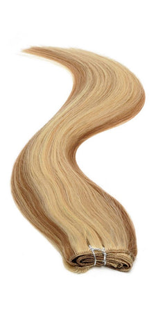 "American Pride Euro Weave Human Hair Extensions 18"" Caramel Starlight (12/613) - Beauty Hair Direct"